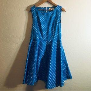 Blue White Polka Dot Dress